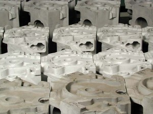 Aluminum Engine Blocks Ready for Machining