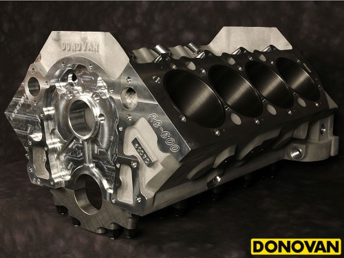 RC-600 Aluminum Big Block Engine Block Front-Side View
